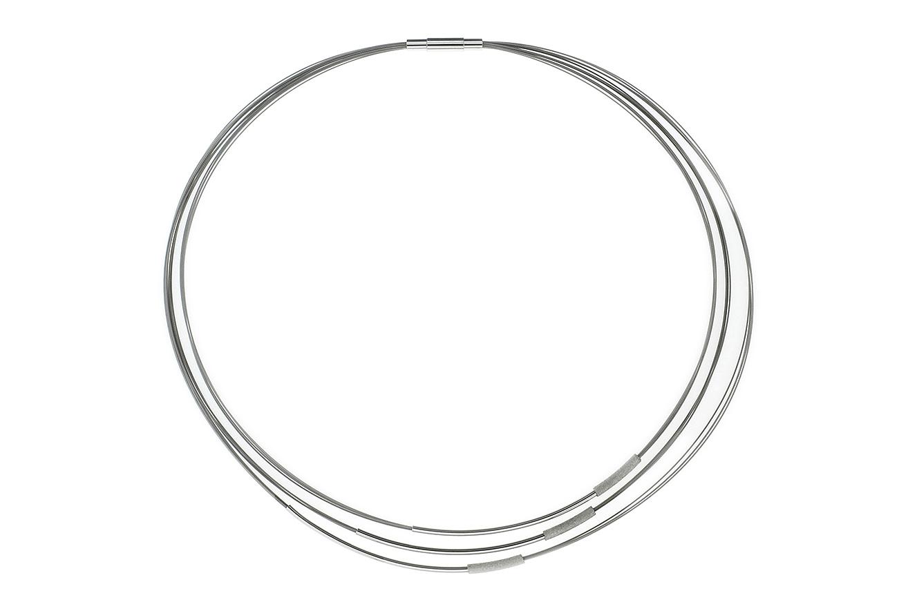 44cm Collier Jagan White von Yo Design mit Stäben in Silber 925 und Edelstahl