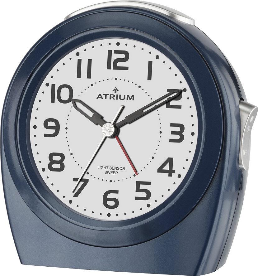 Metallic blauer Wecker Atrium A451-5 Autolicht mit Lichtsensor und fließender Sekunde