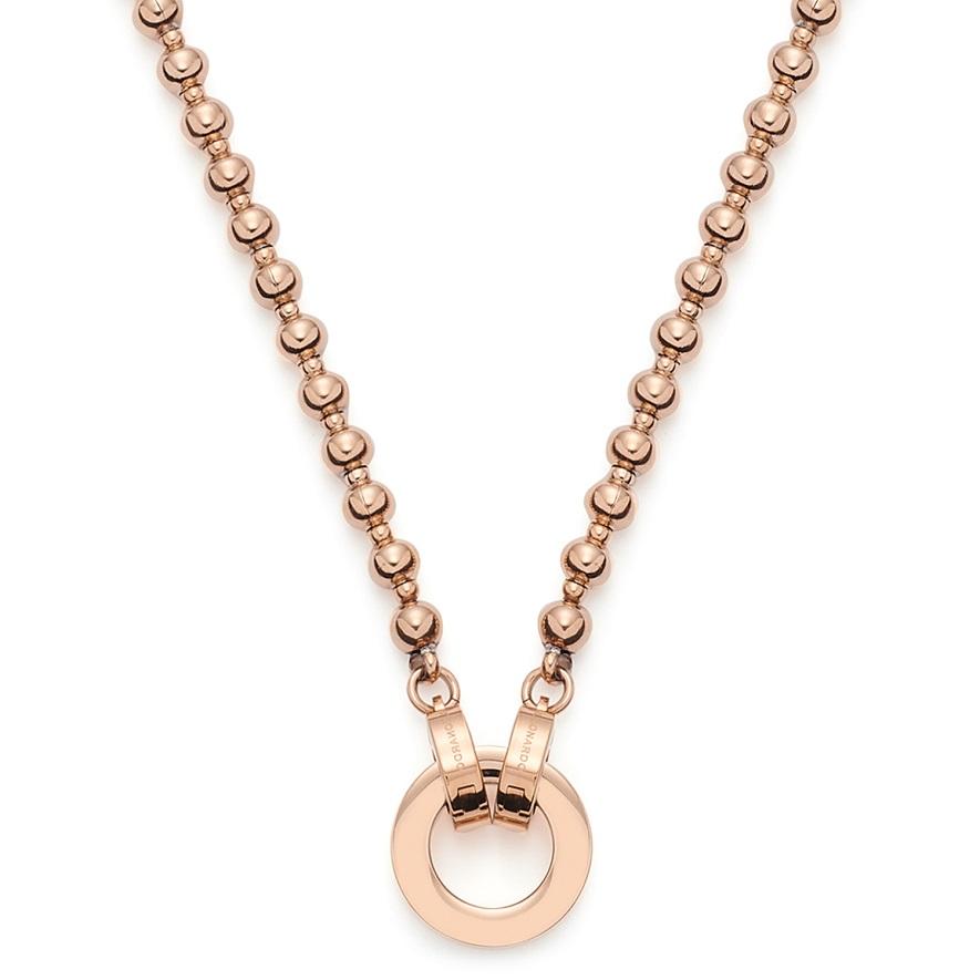 45cm Kette mit Ring von Leonardo 019664 Nohra mit rosé gold farbener Oberfläche