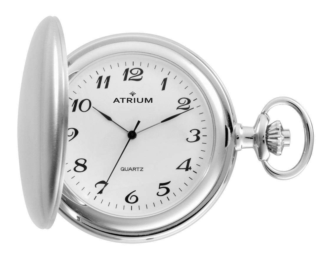 Taschenuhr der Marke Atrium A20-80 mit mattierter Oberfläche.