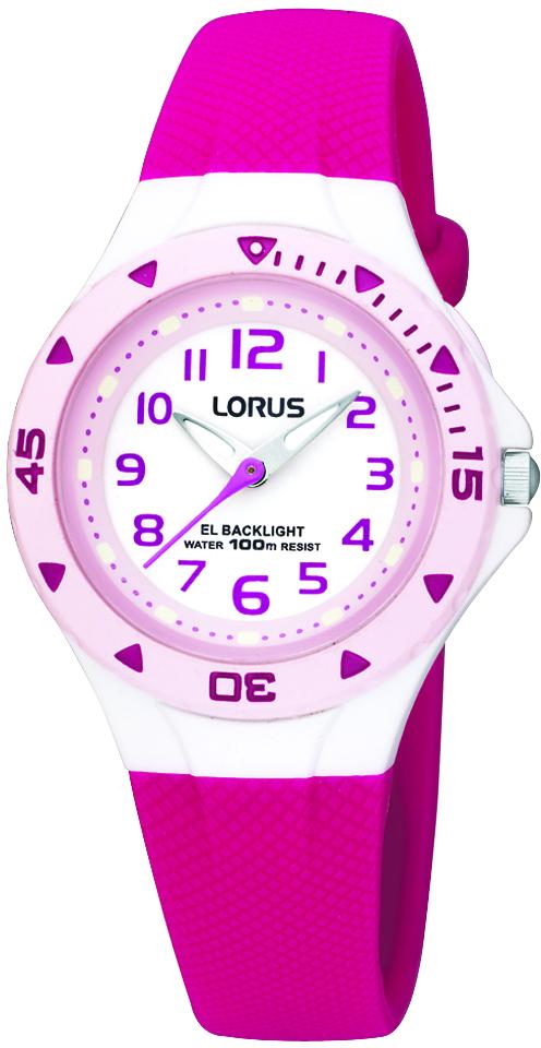 Armbanduhr von Lorus RG299SX9 mit Ziffernblatt in weiß und Schmetterling