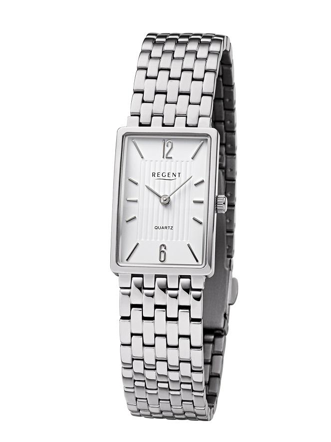 Armbanduhr Regent F-1343 mit Titangehäuse und Titanarmband mit Faltschließe