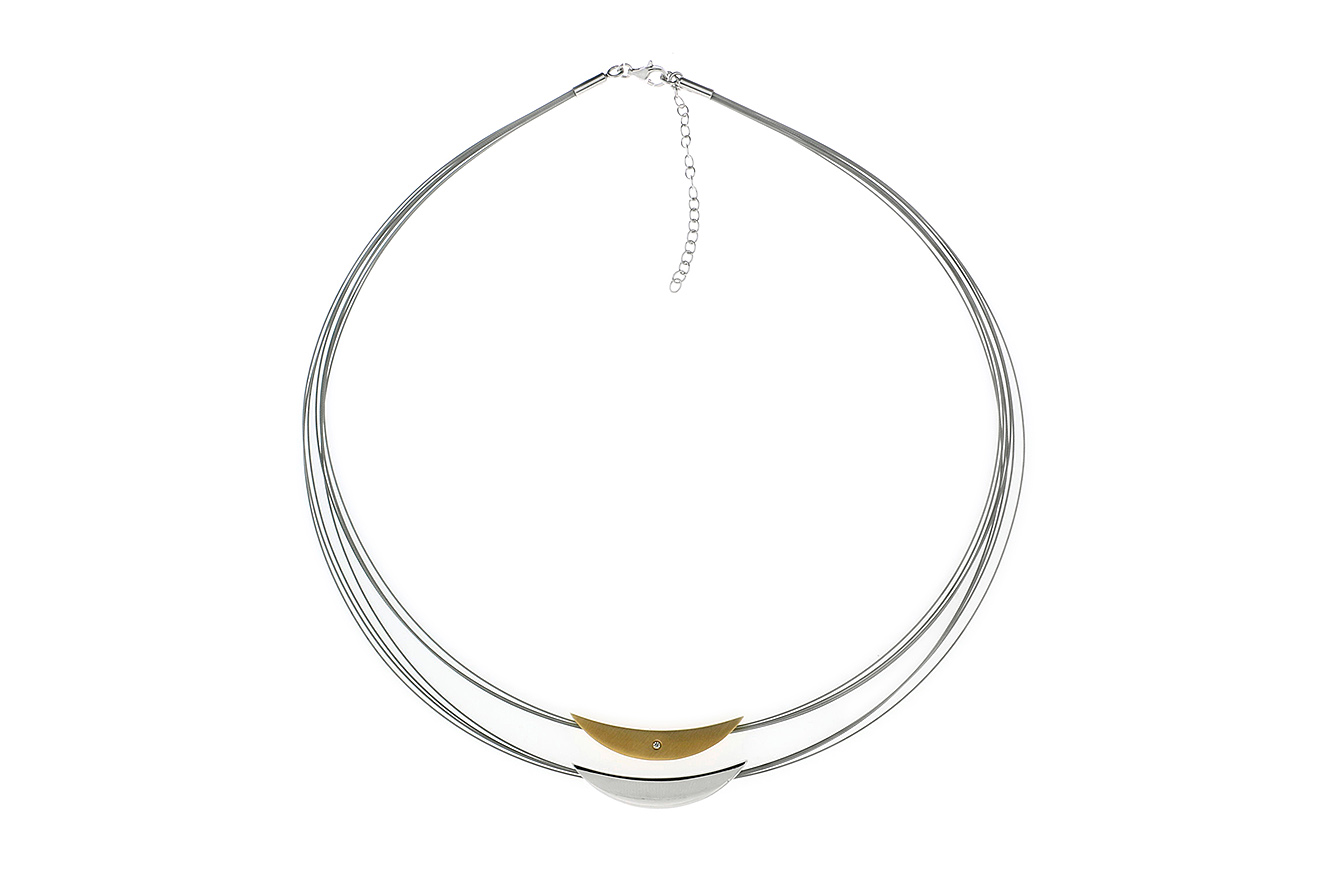 50-45cm Collier Frodo Gold von Yo Design in Silber 925 und Edelstahl