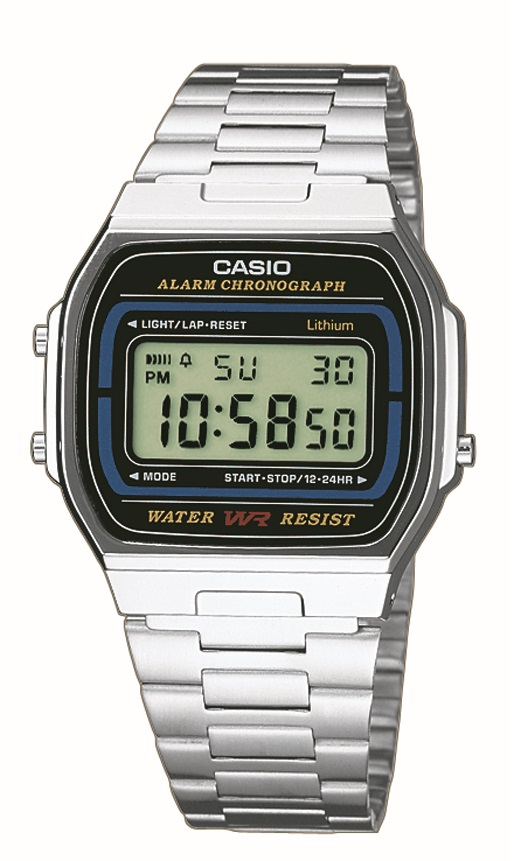 Armbanduhr Unisex mit Digitalanzeige von Casio A164WA-1VES mit Licht und Alarm