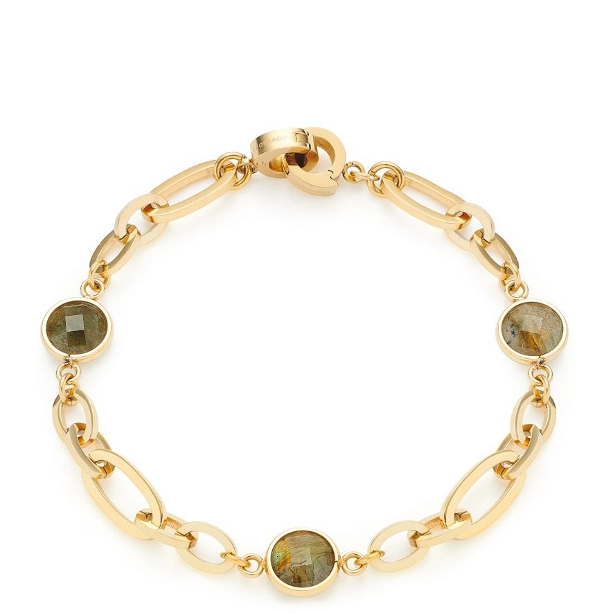 19cm Armband von Leonardo Giordana 021555 in Edelstahl vergoldet Clip&Mix