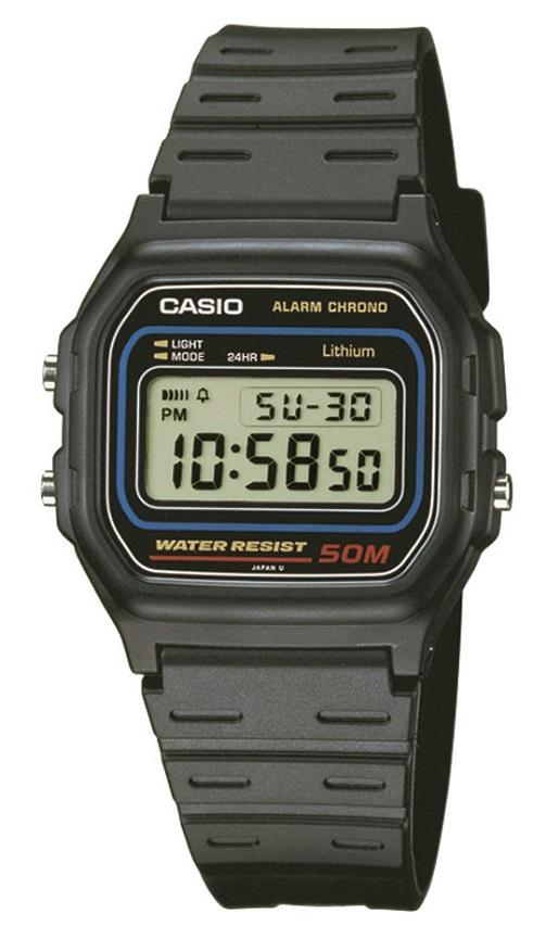 Armbanduhr von Casio Digitalanzeige im Vintage Design W-59-1VQES mit Licht und Stoppuhr