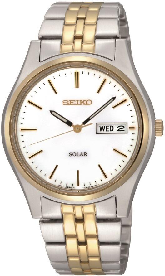 Armbanduhr bicolor Seiko Solar SNE032P1