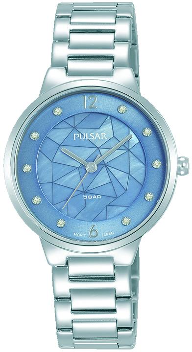 Armbanduhr von Pulsar PH8514X1 mit Edelstahlgehäuse Bicolor, Faltschließe und Swarovski Crystale