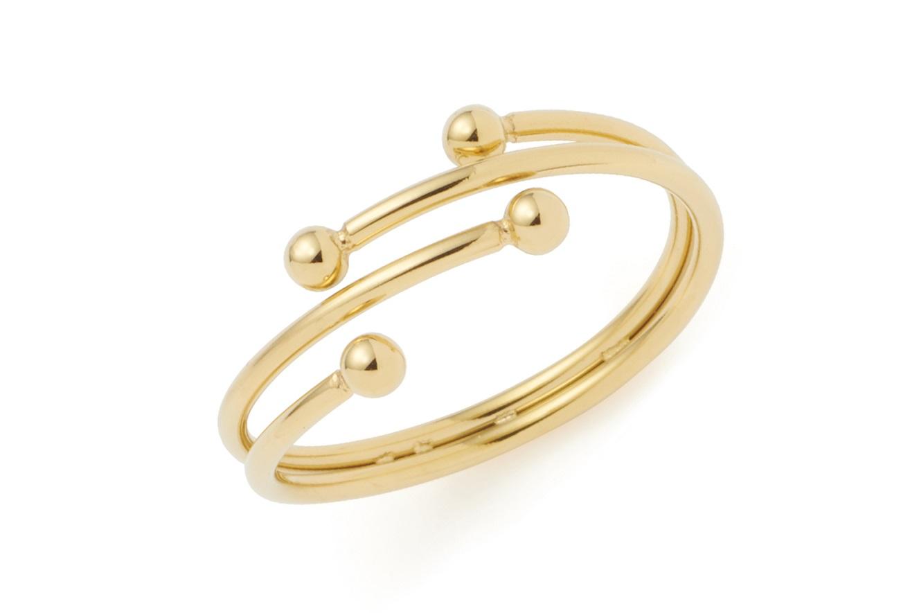 Gr.18 Ring von Leonardo Ciao Melinda 021661 in Edelstahl vergoldet