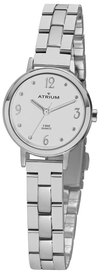 Armbanduhr Atrium A38-30 mit weißen Zifferblatt und Faltschließe
