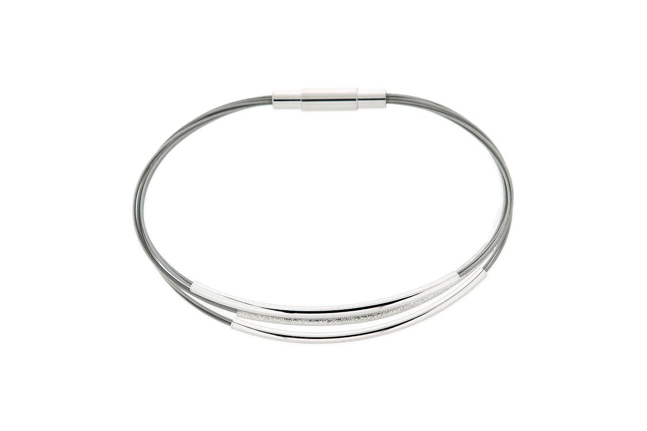 18,5cm Armband Move von Yo Design mit Stäben in Silber 925 und Edelstahl