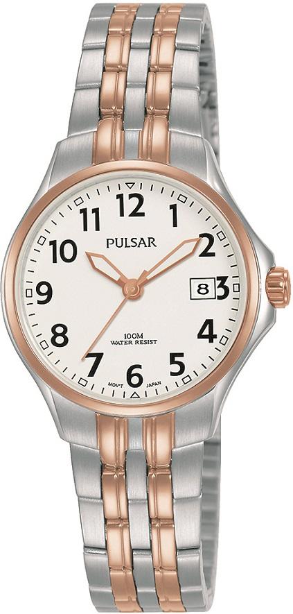 Damenarmbanduhr von Pulsar PH7490X1 mit Edelstahlgehäuse und Metallarmband