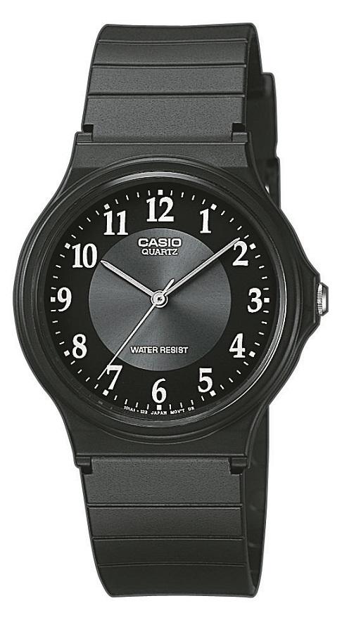 Herrenarmbanduhr Casio MQ-24-1B3LLEG mit Analoganzeige und schwarzem Kunststoffarmbandband
