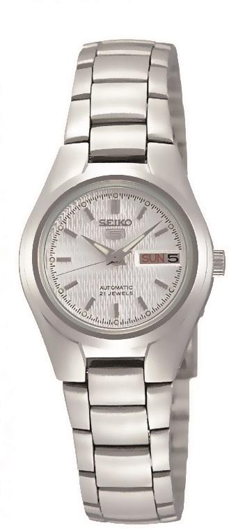 Damenarmbanduhr von Seiko SYMC07K1 mit Automatikwerk sowie Datums- und Tagesanzeige