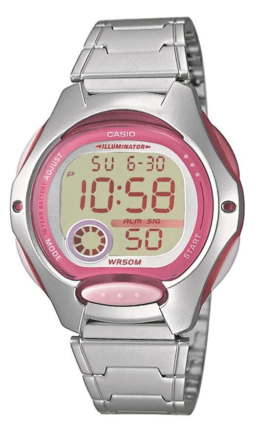 Damenarmbanduhr mit Digitalanzeige von Casio LW-200D-4AVEG mit Licht und Alarm