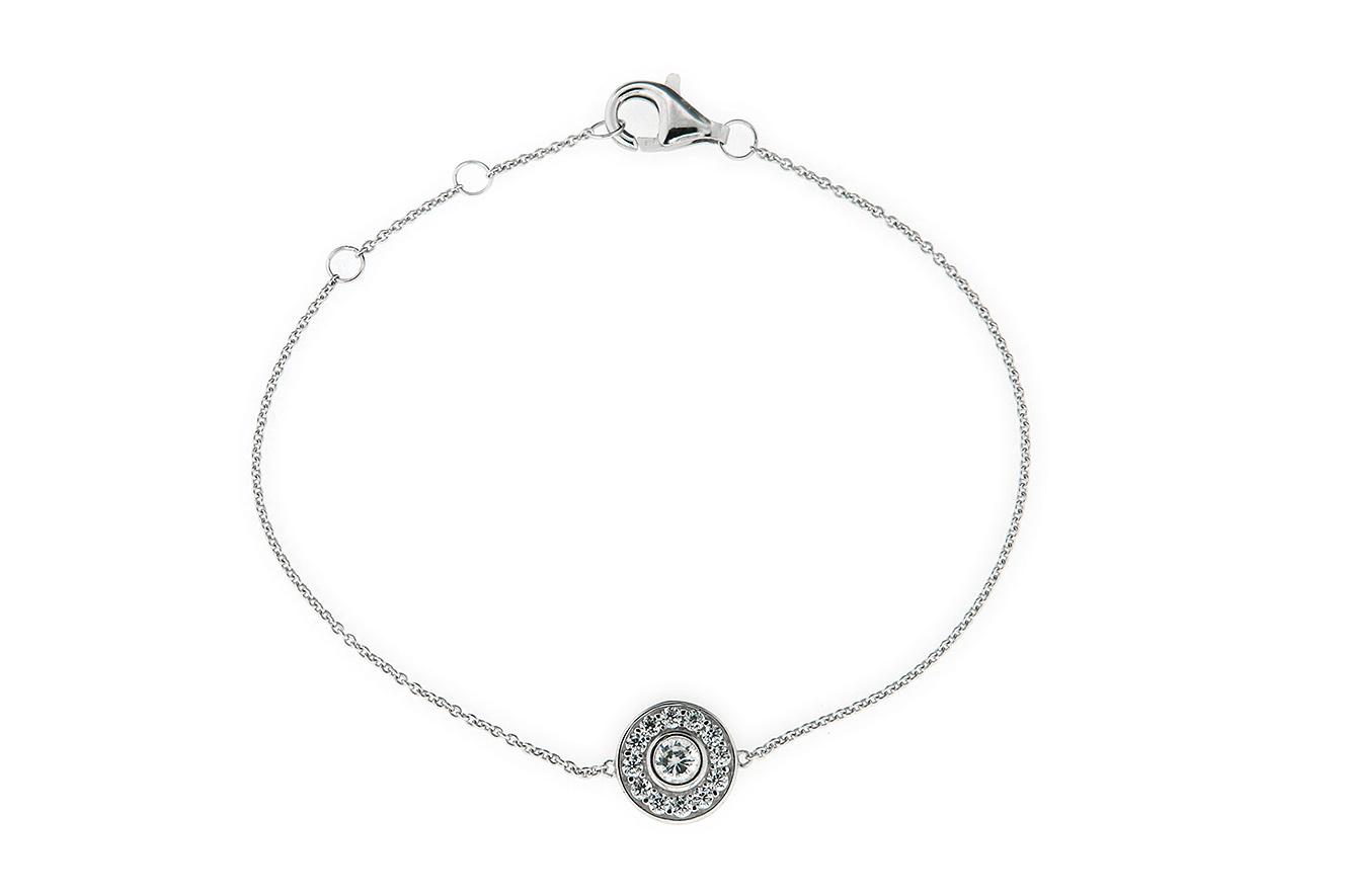 19-18-16,5cm Armband Silber 925 rhodiniert und Zirkonia