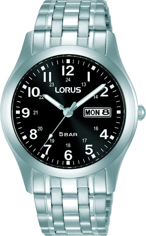 Armbanduhr von Lorus RXN73DX9 mit  Datum und Tagesanzeige in Edelstahl