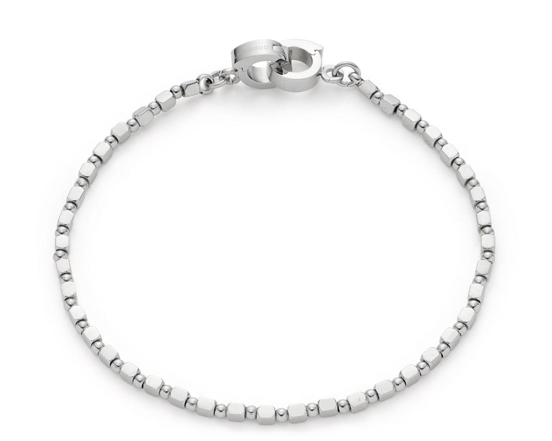 18cm Armband von Leonardo Icona  021566 aus Edelstahl Clip&Mix und polierter Oberfläche