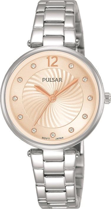 Armbanduhr von Pulsar PH8491X1 mit Edelstahlgehäuse, Faltschließe und Swarovski Crystale