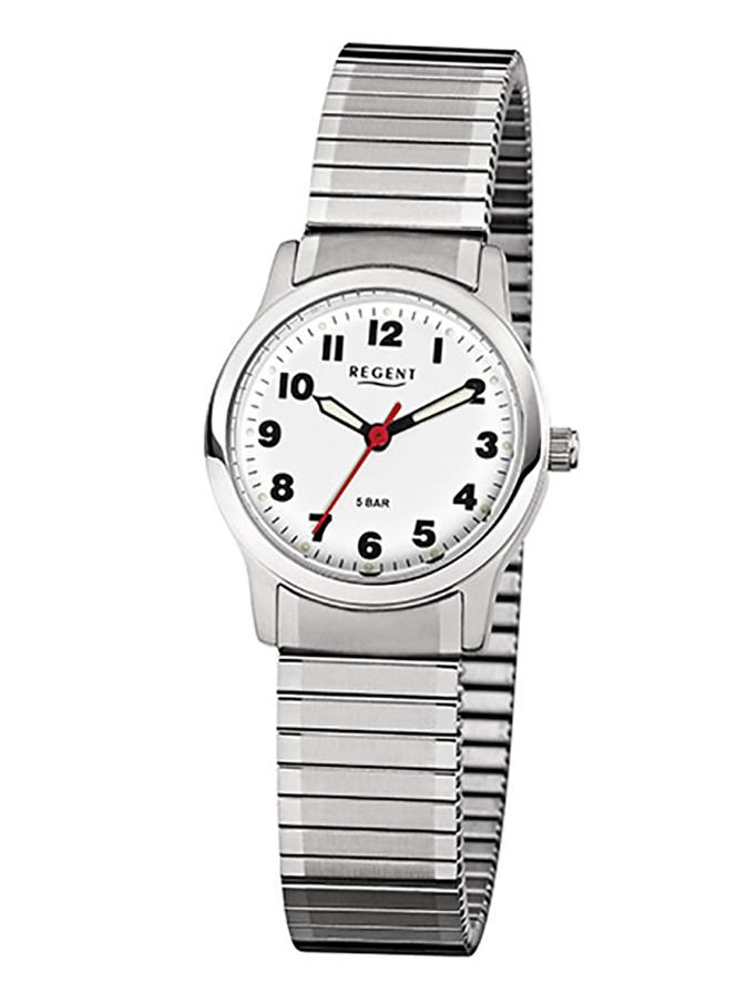 Armbanduhr von Regent F-898 mit Edelstahlgehäuse und Zugarmband