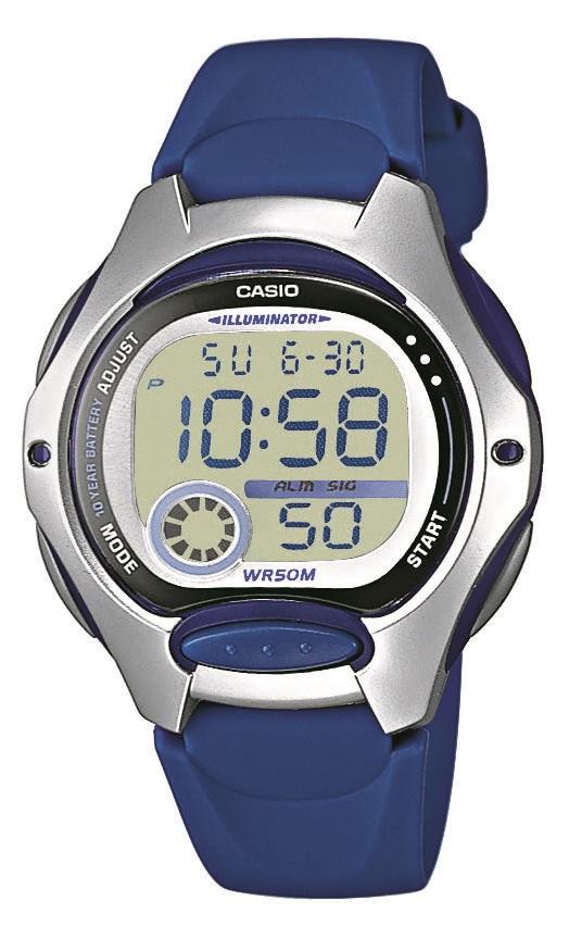 Digitaluhr Casio in silber blau  LW-200-2AVEG mit Kunststoffarmband und Edelstahlboden