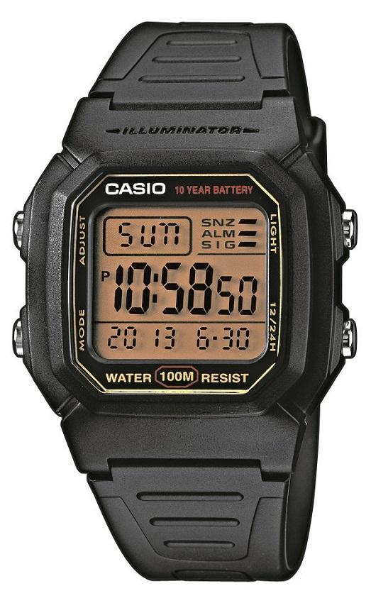 Armbanduhr Digitalanzeige von Casio W-800HG-9AVES mit Licht und alarm