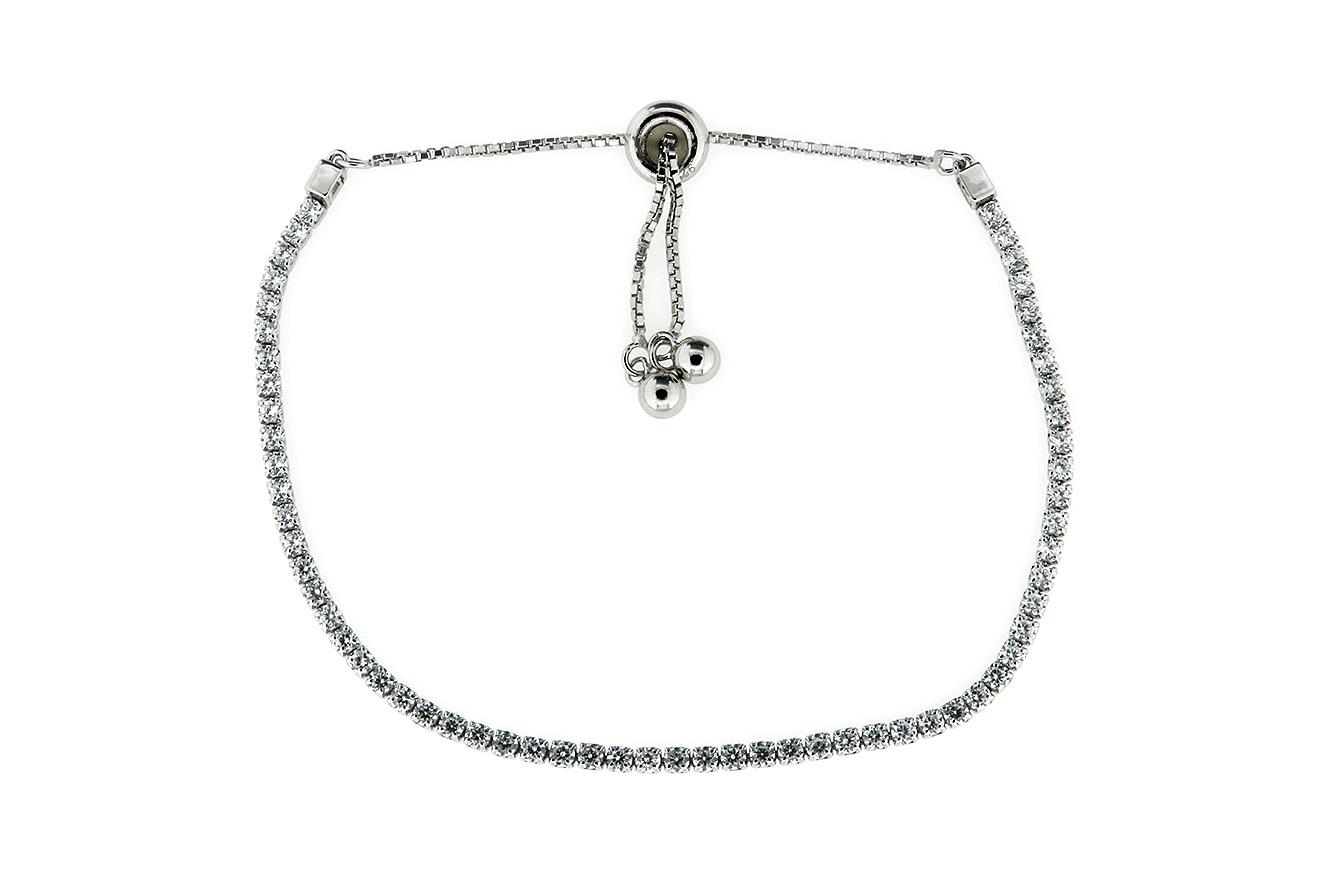 25-14cm Tennisarmband Silber 925 rhodiniert mit Zirkonia