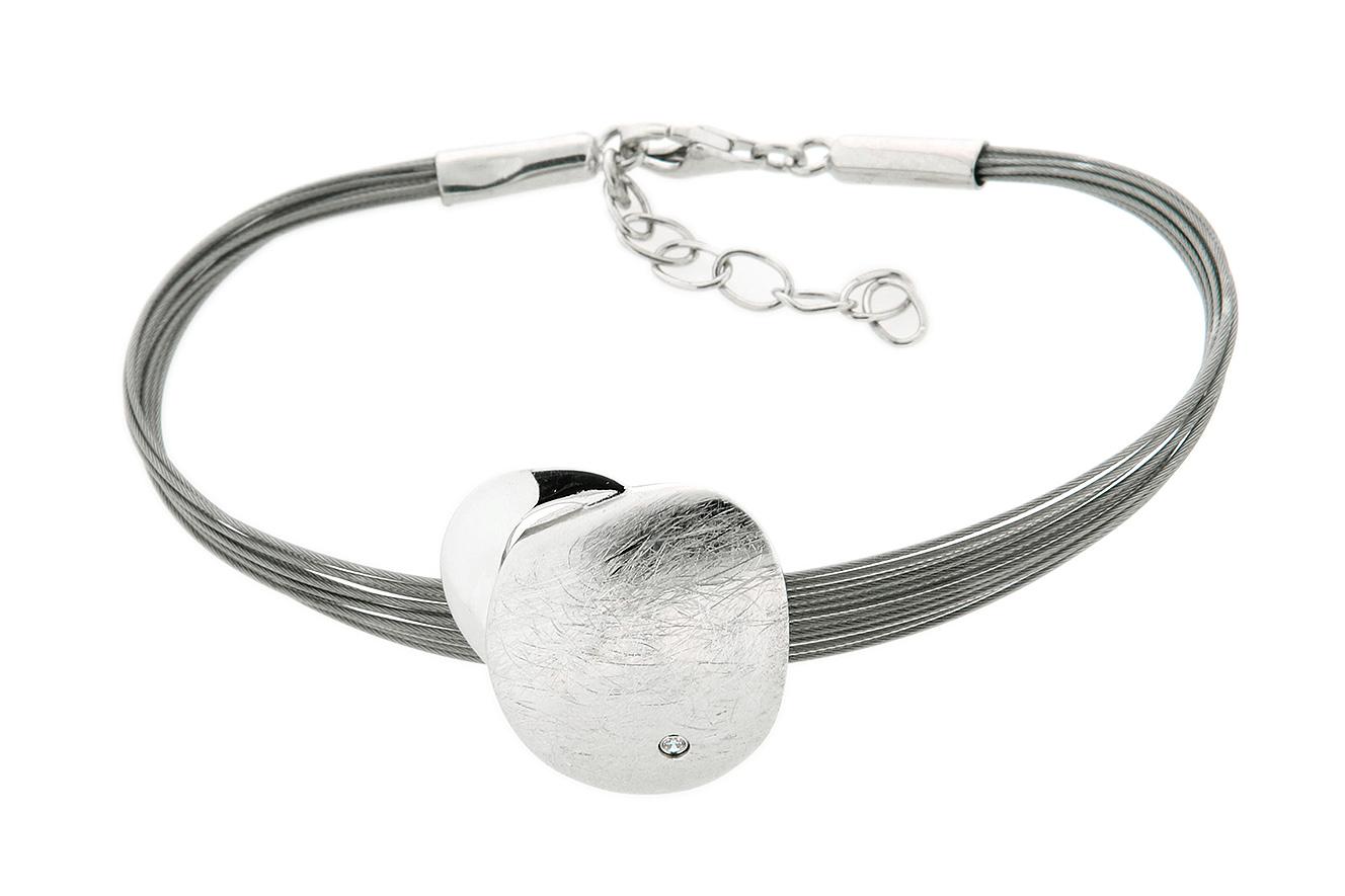 20cm-17cm Armband Shallow von Yo Design in Silber 925 und Edelstahl