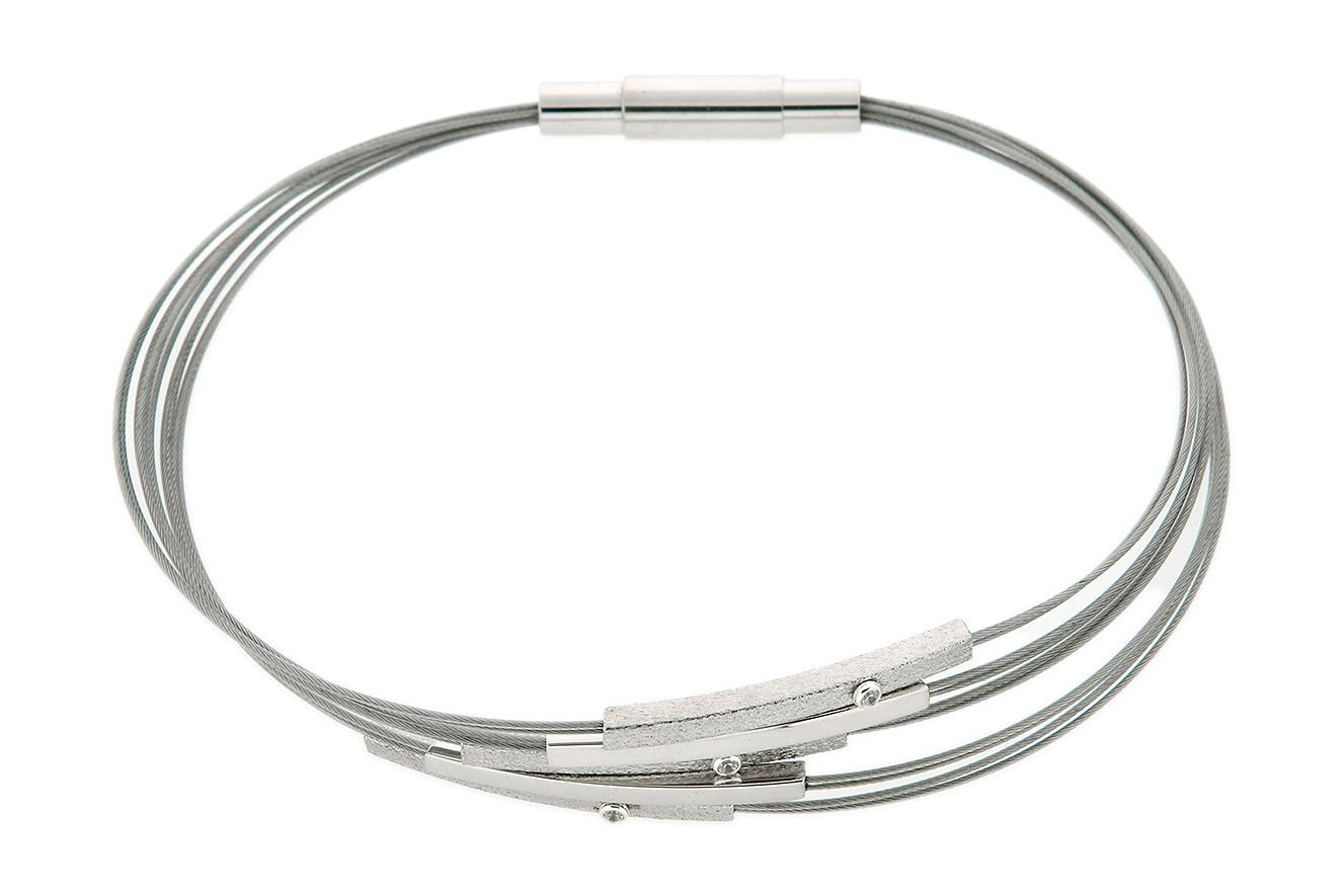 18,5cm Armband Pret von Yo Design mit Stäben in Silber 925 und Edelstahl