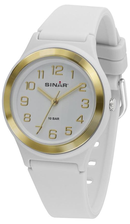 Fashion Armbanduhr XB-48-1 mit weißen Silikonarmband von Sinar