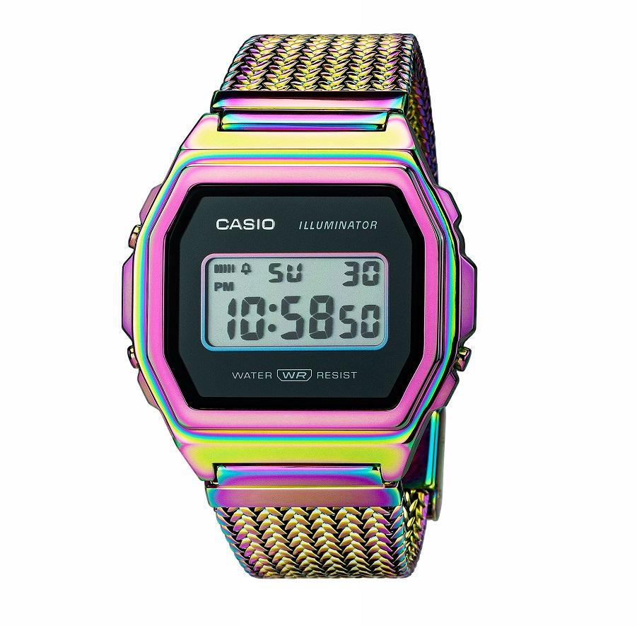 Armbanduhr Unisex mit Digitalanzeige von Casio A1000PRW-1ER mit Licht und Alarm