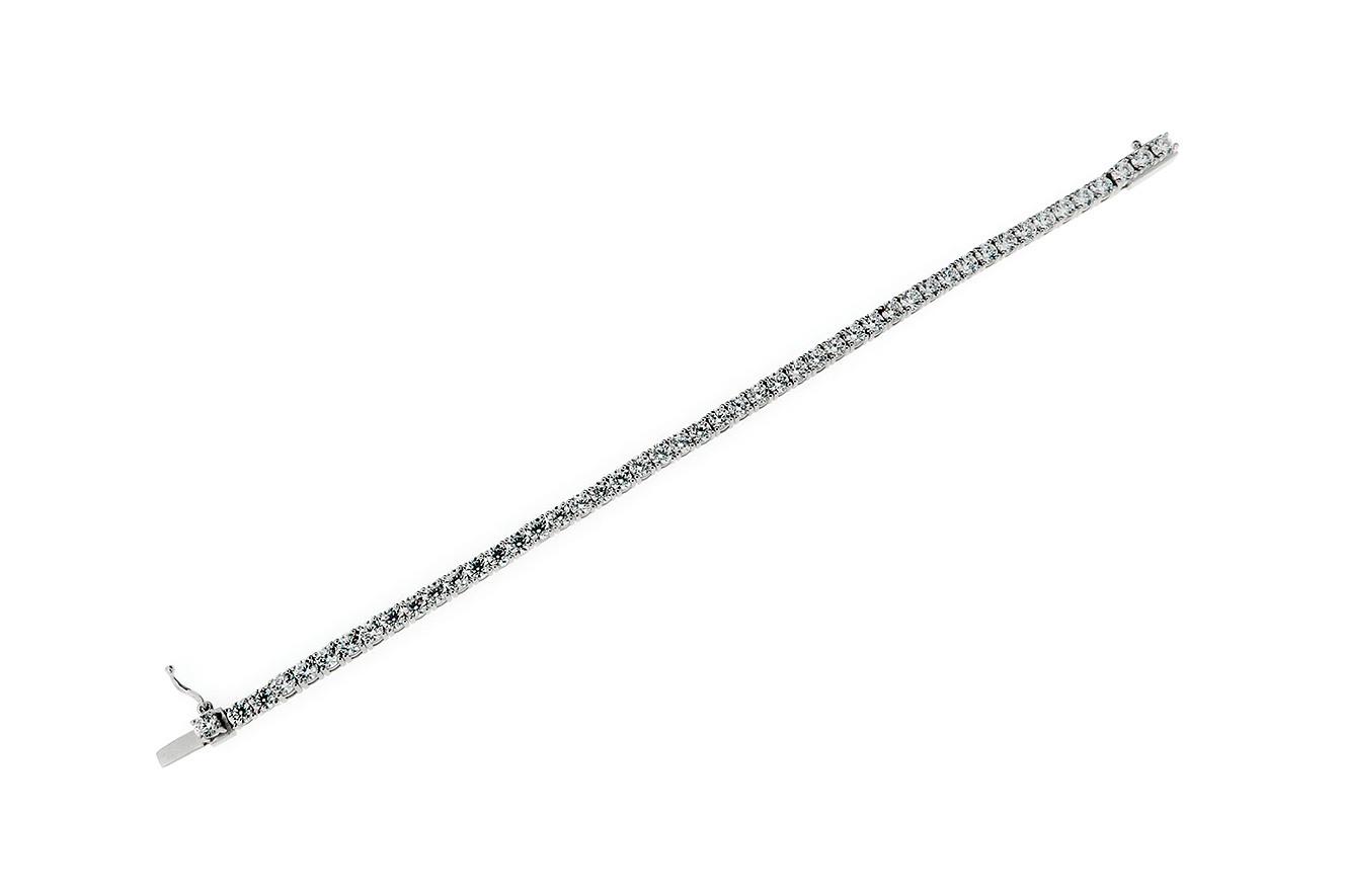 17,5cm Tennisarmband Silber 925 rhodiniert mit Zirkonia