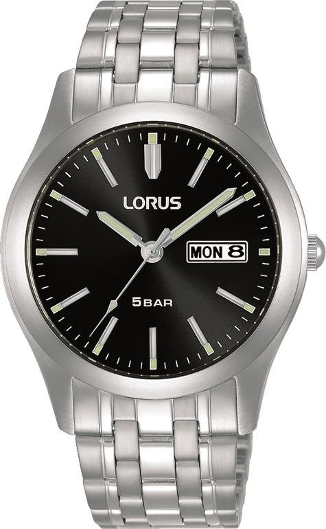 Armbanduhr von Lorus RXN67DX9 mit  Datum und Tagesanzeige in Edelstahl