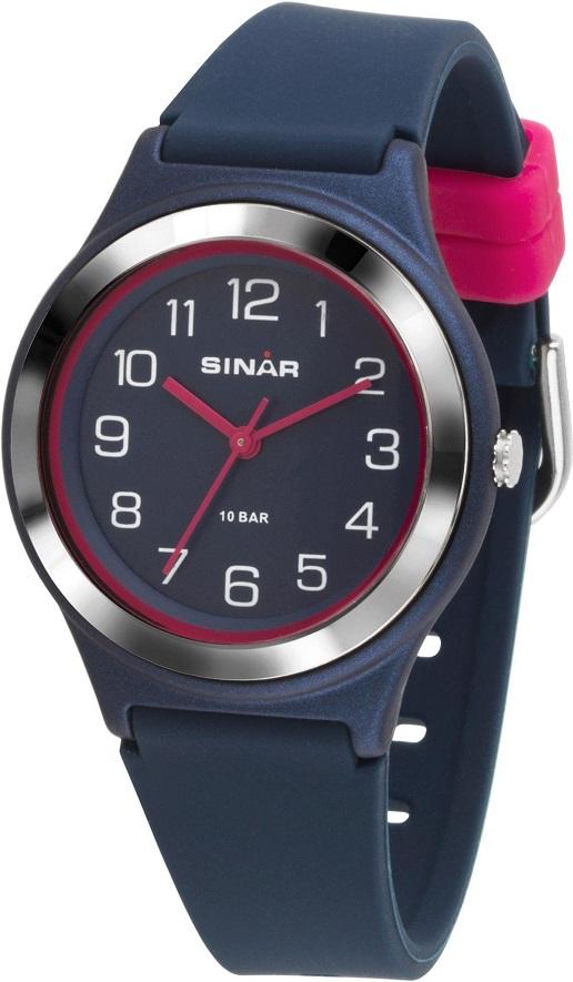 Fashion Armbanduhr XB-48-2 mit dunkelblauem Silikonarmband aus dem Haus Sinar.