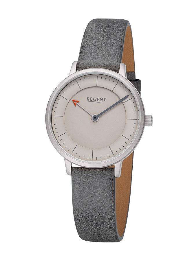 Armbanduhr Regent F-1246 mit dreidimensionalen Zifferblatt und matten Edelstahlgehäuse