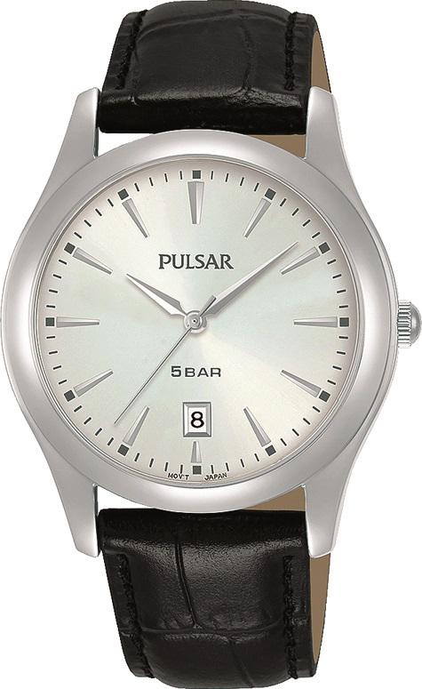 Armbanduhr von Pulsar PG8317X1 mit Edelstahlgehäuse und Lederarmband
