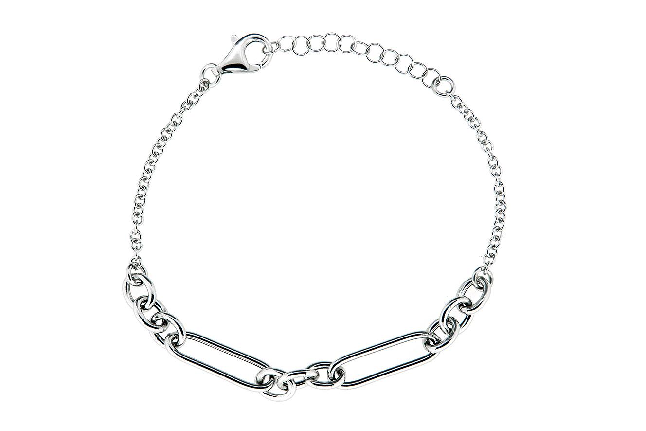 19-16cm Armband in Silber 925 rhodiniert mit ovalen Gliedern