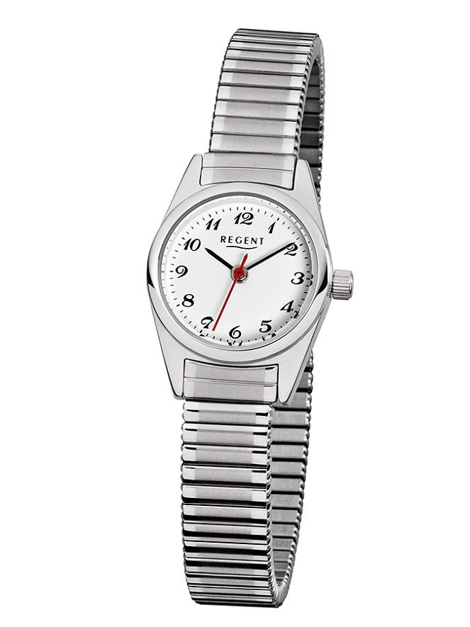 Armbanduhr von Regent F-270 mit Edelstahlgehäuse und Zugarmband
