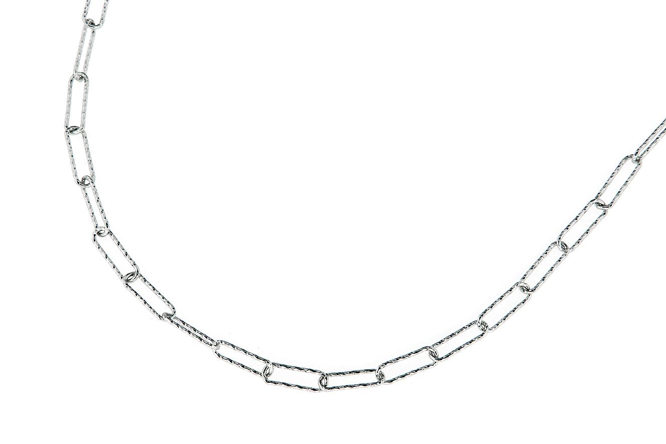45-42cm Collier in Silber 925 rhodiniert mit ovalen Gliedern