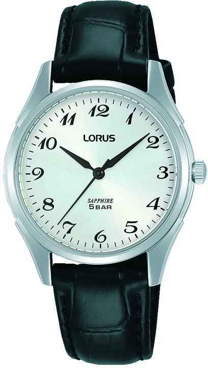 Armbanduhr von Lorus RG287SX9 mit Edelstahlgehäuse und Lederarmband