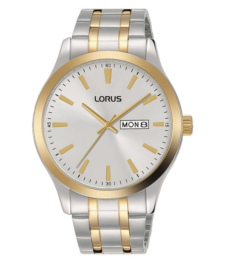 Herrenarmbanduhr von Lorus RH346AX9 bicolor mit Tages und Datumsanzeige