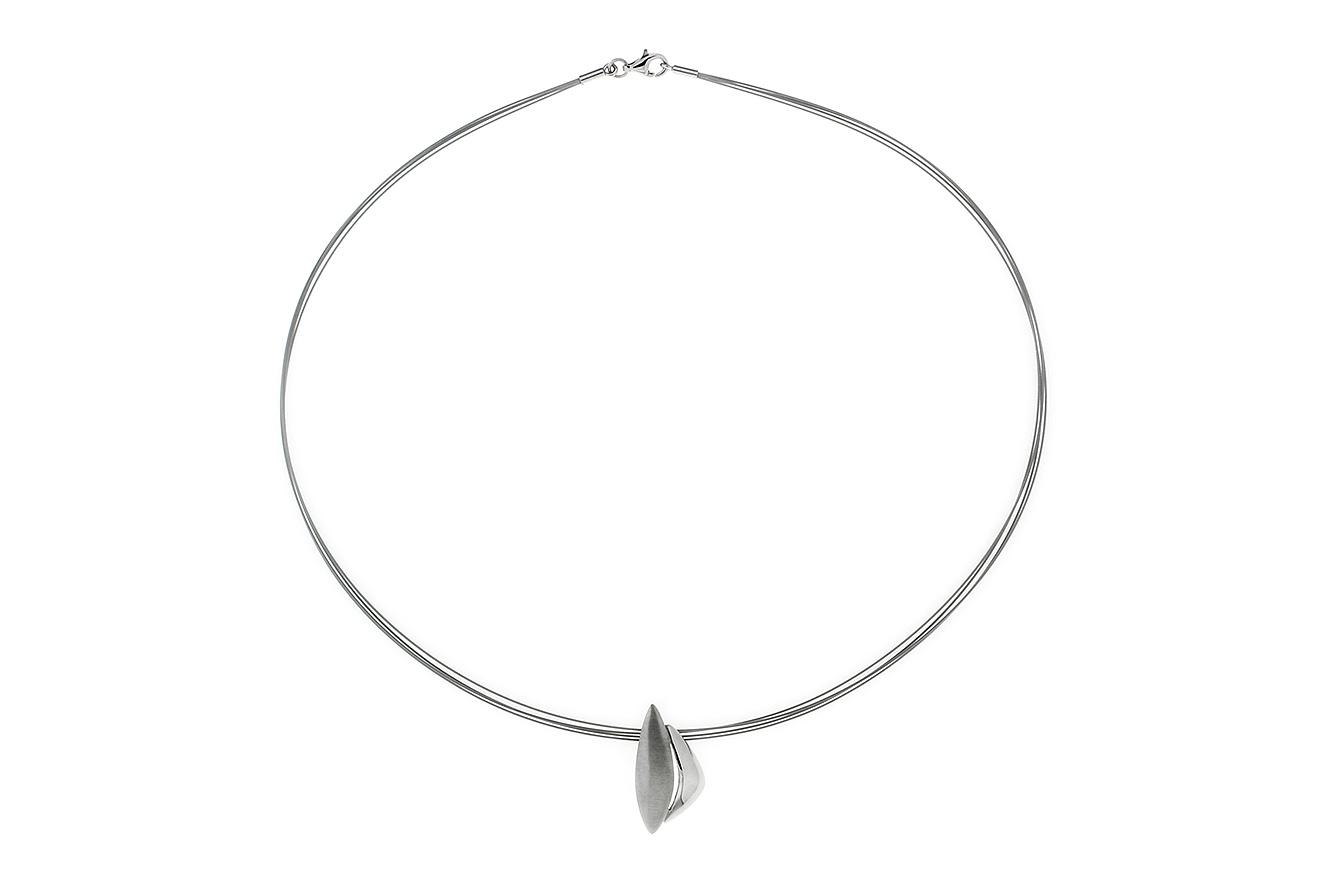 43cm Collier Wind von Yo Design in Silber 925 rhodiniert und Edelstahl