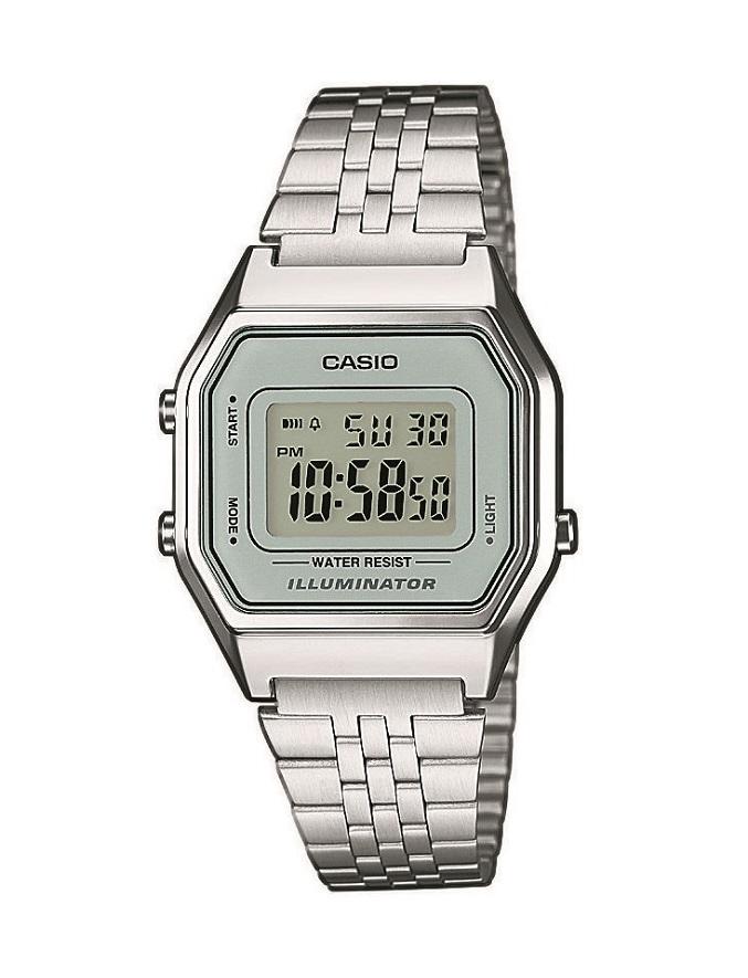 Armbanduhr im Vintage Design Digital Damenuhr Casio LA680WEA-7EF mit Alarm und Licht