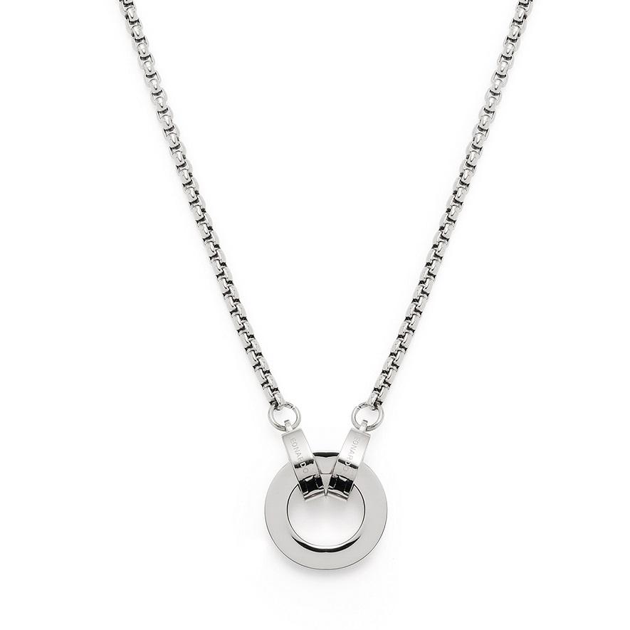 43cm Halskette mit Zwischenring Lolita Clip&Mix Edelstahl von Leonardo mit Miniclip
