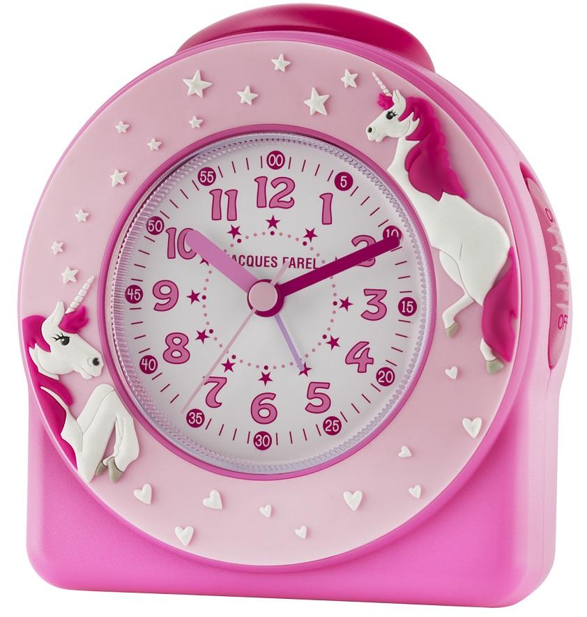 Kinderwecker Jacques Farel ACW50 pink mit Einhorn und Weckwiederholung