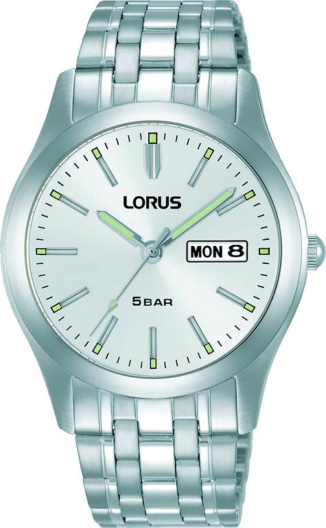 Armbanduhr von Lorus RXN71DX9 mit  Datum und Tagesanzeige in Edelstahl