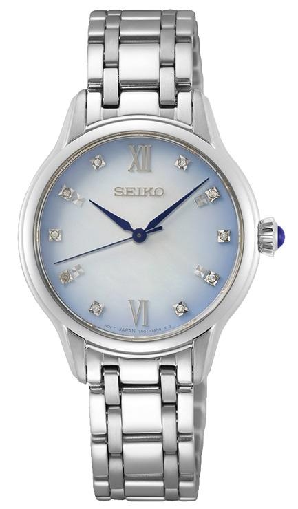 Armbanduhr von Seiko SRZ539P1 Limited Edition mit Edelstahlgehäuse und Faltschließe