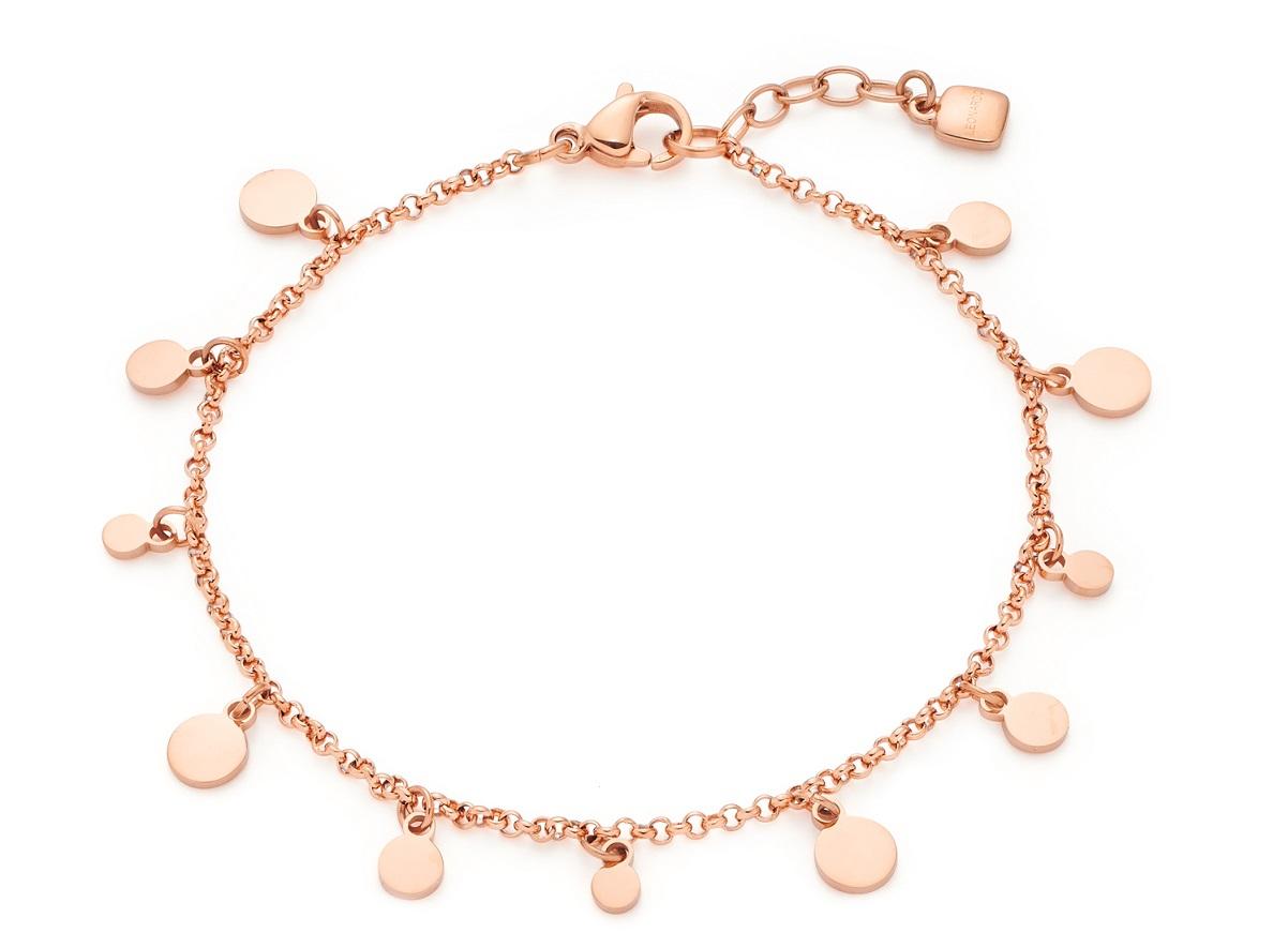 18-17cm Armband von Leonardo Ciao Rica 021462 in Edelstahl rosé mit Plättchen