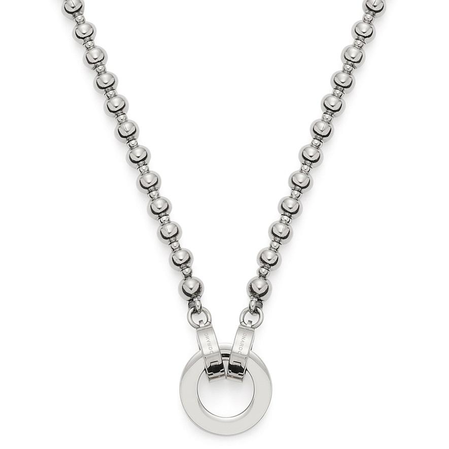 43cm Halskette von Leonardo Nohra 019662 Clip&Mix in Edelstahl mit Ring