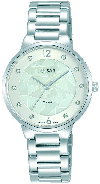 Armbanduhr von Pulsar PH8511X1 mit Edelstahlgehäuse, Faltschließe und Swarovski Crystale